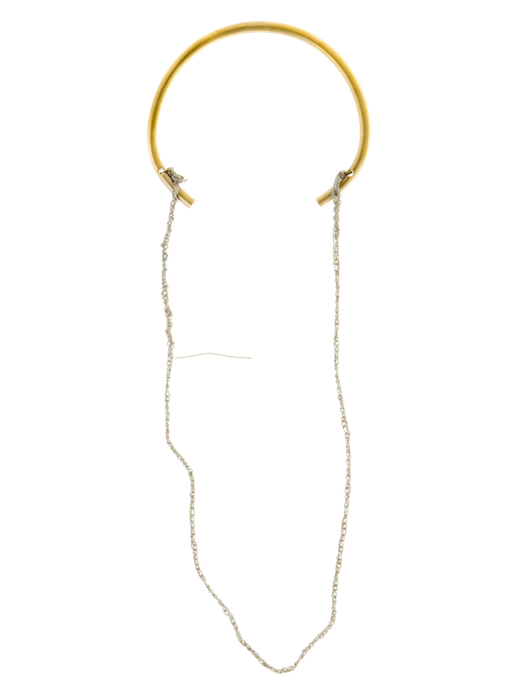 Circuit Necklace in Silver w/ Brass Hardware
