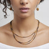 - 3-Tiered Simple Necklace - Gold Dalmatian -
