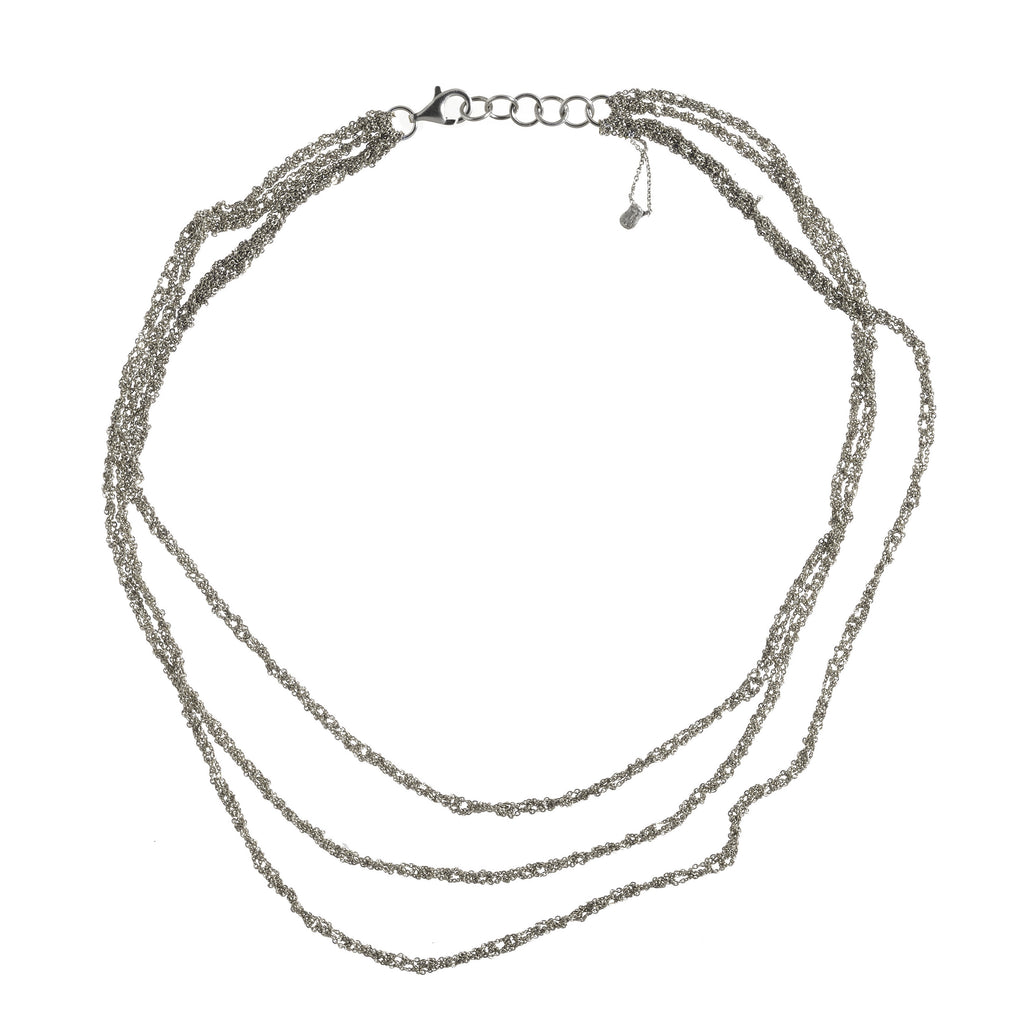 3-Tiered Simple Necklace in Ash