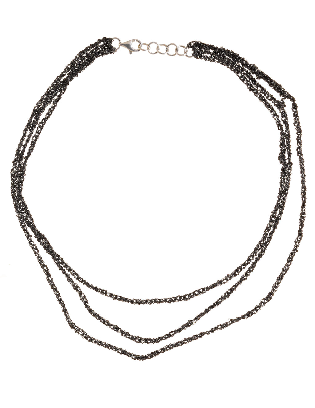3-Tiered Simple Necklace in Charcoal