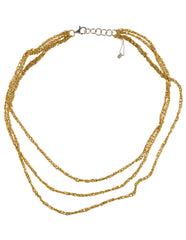 - 3-Tiered Simple Necklace - Gold