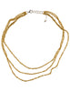 - 3-Tiered Simple Necklace - Gold -