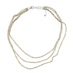 3-Tiered Simple Necklace in Silver