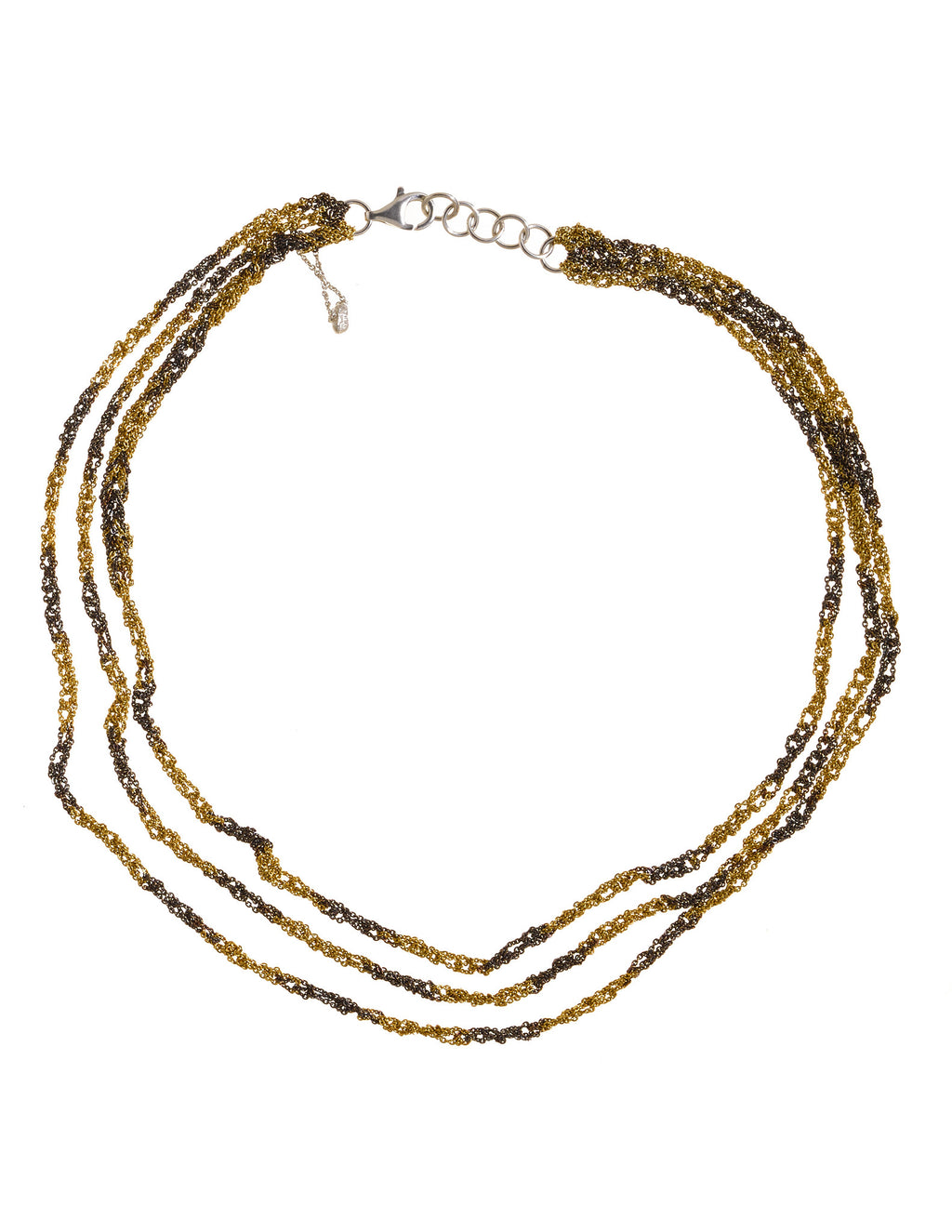 3-Tiered Simple Necklace in Gold Dalmatian