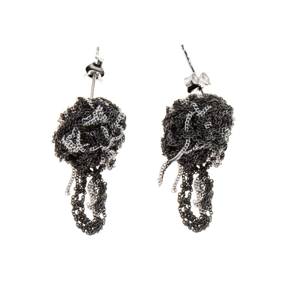 Fleuret Earrings in Ash + Charcoal