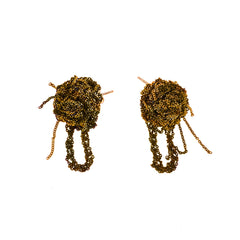 - Fleuret Earrings - Burnt gold -