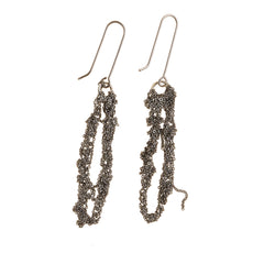 - Hook Drip Earrings - Faded Silver -