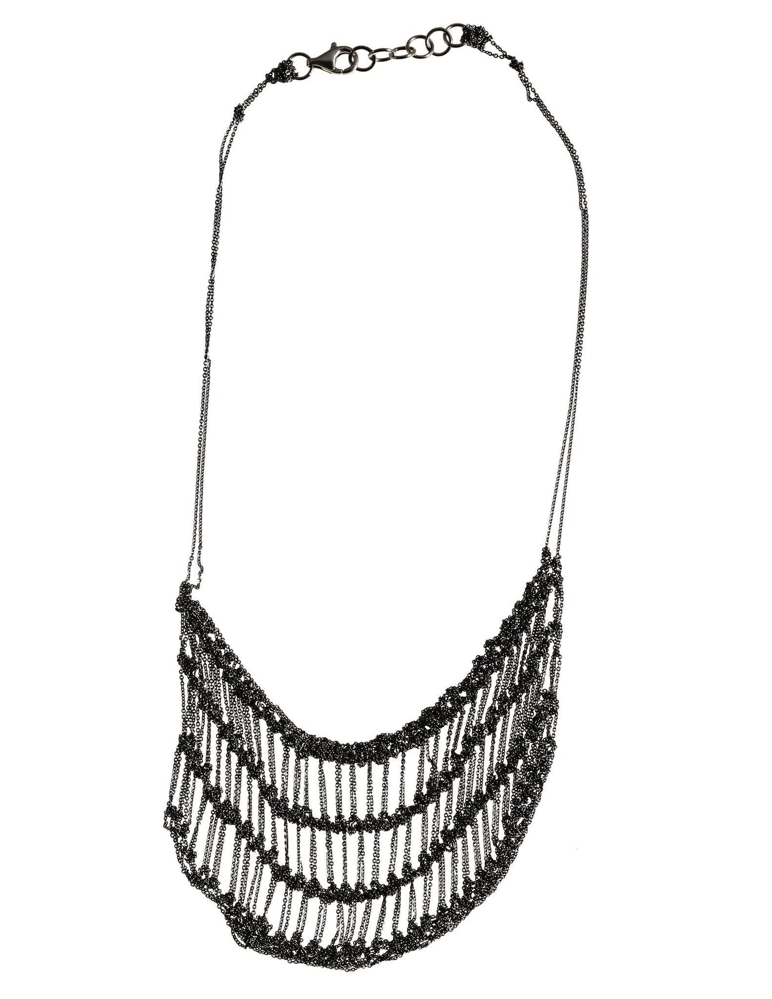 Frame Necklace in Charcoal