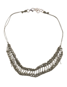 Slink Necklace in Faded Silver