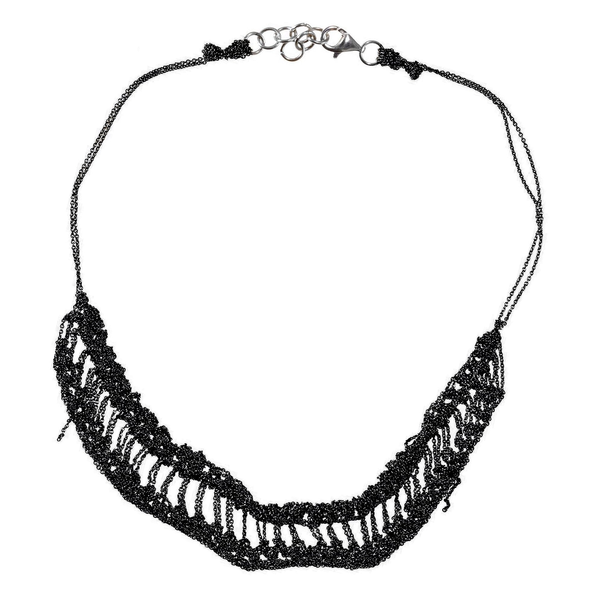Slink Necklace in Charcoal