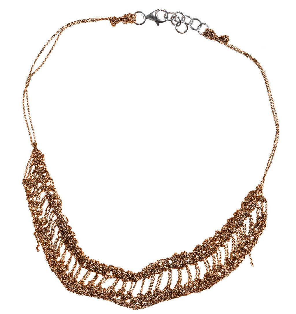 Slink Necklace in Rose Gold