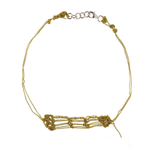 Clasped Bare Frame Necklace in Gold