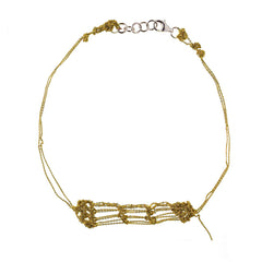 - Clasped Bare Frame Necklace - Gold -