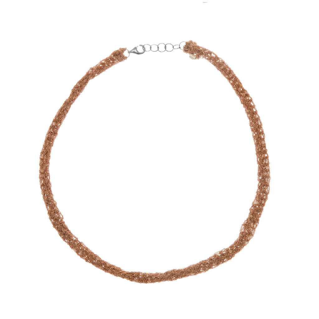 Pipette Necklace in Rose Gold