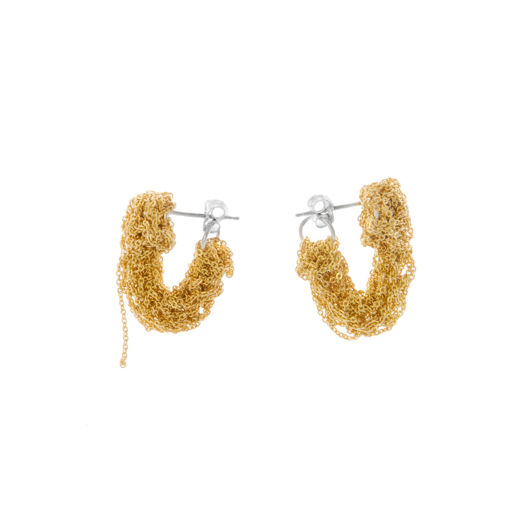 Pipette Cuff Earrings in Gold
