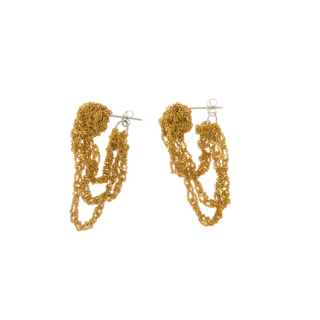 Tiered Cuff Earrings in Gold