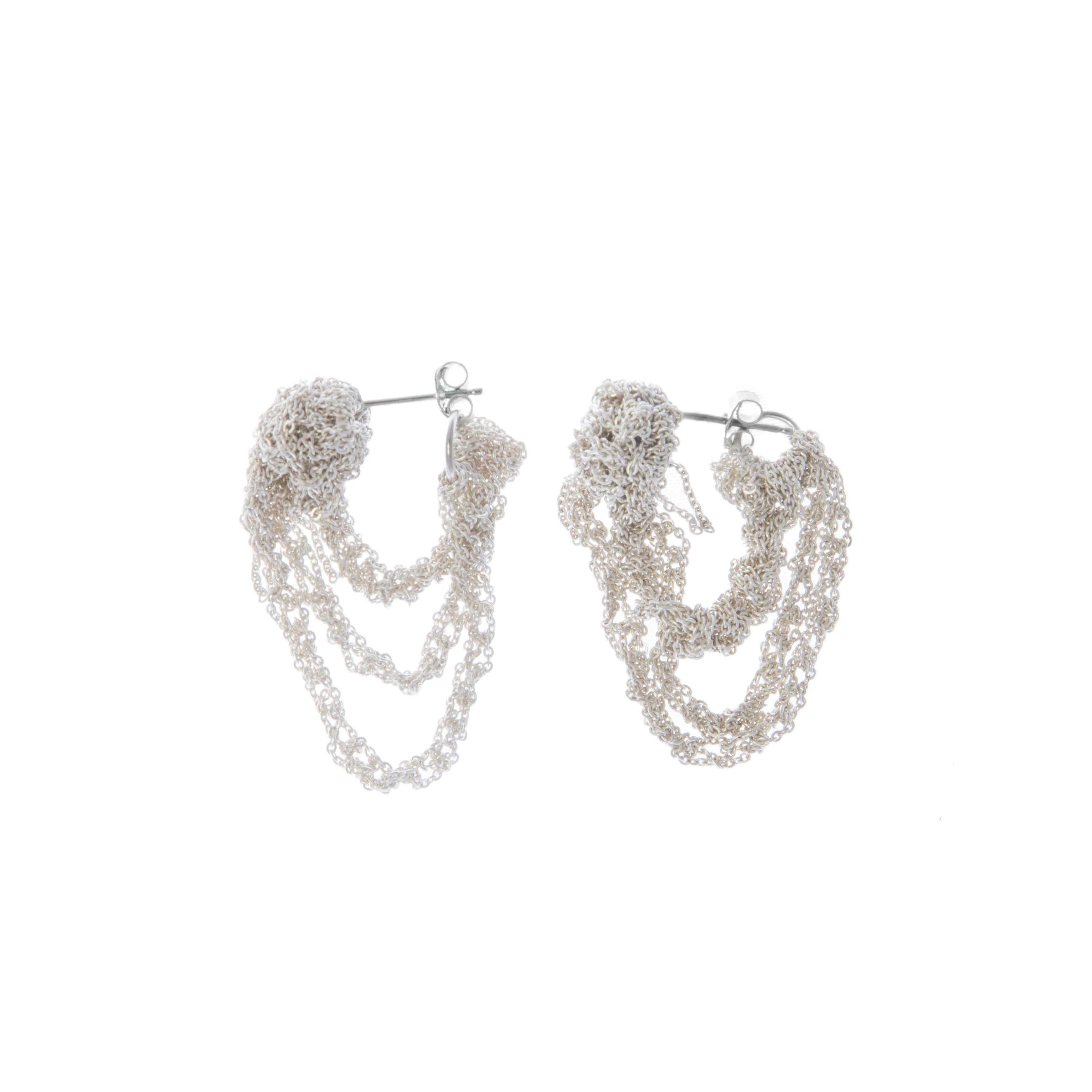 Tiered Cuff Earring in Silver