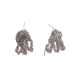 Fringe Earrings in Faded Silver