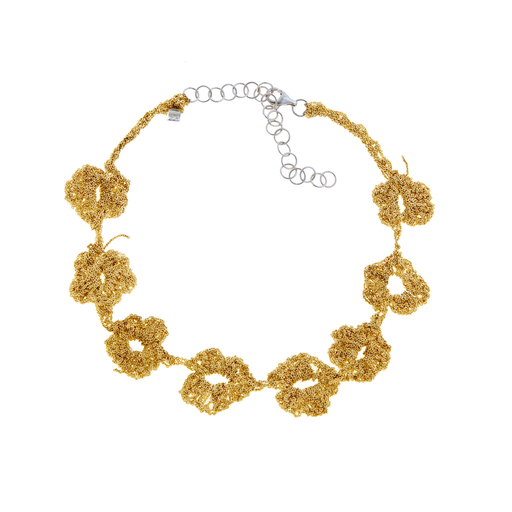 Pansy Chain in Gold