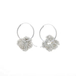 Pansy Hoops in Silver