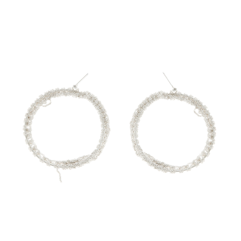 Hi Noon Hoop Earrings in Silver
