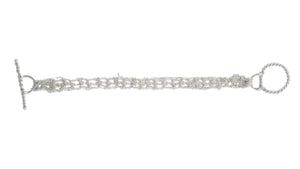 Baby Tee Bracelet in Silver w/Silver Twist Toggle