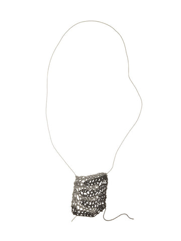 Carmela Striped Square Drop necklace