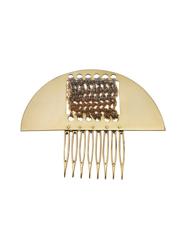 Arched cut-out hair comb
