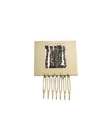 Square fringe cut-out hair comb