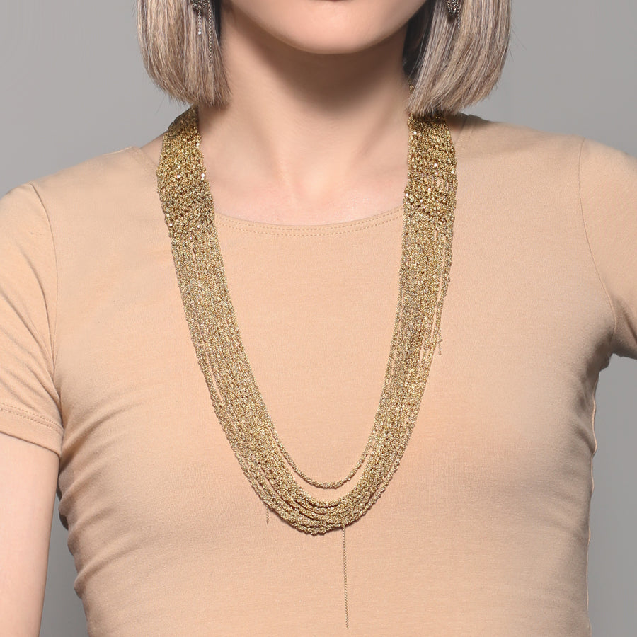 The Buxom Necklace in Burnt Gold
