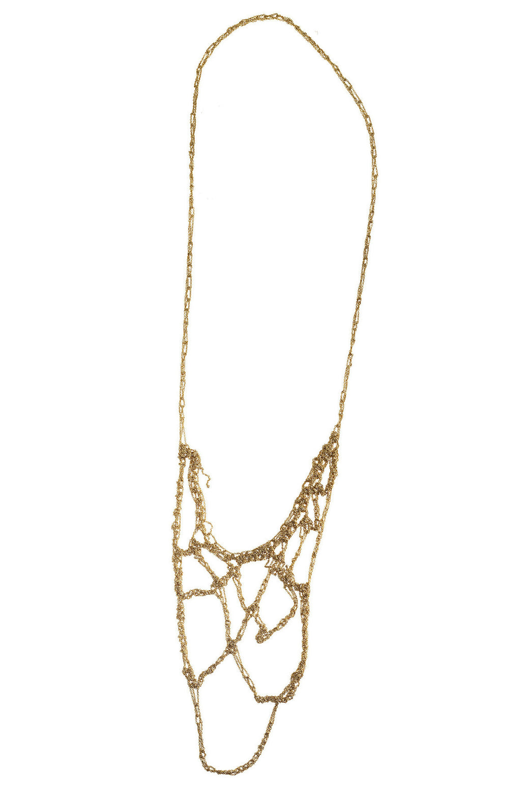 Web Necklace in Gold