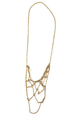 - Web Necklace - Gold -
