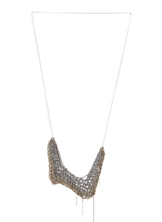Zig Zag Drop Necklace