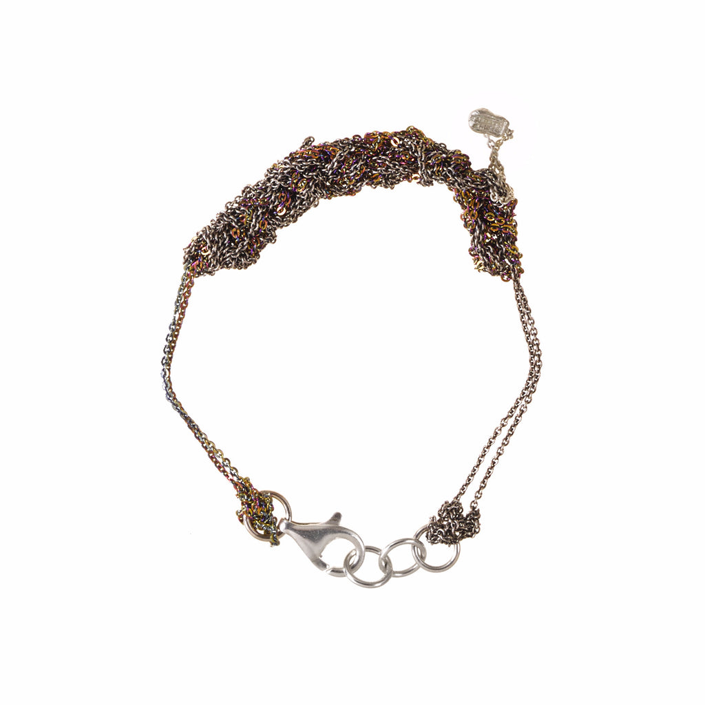 2-Tone Bare Chain Bracelet in Faded + Spectrum