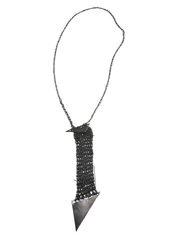 - Arrow Pendant Necklace - Charcoal -