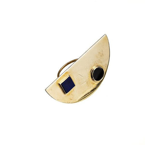 - Eclipse Ring with Inset Stones -
