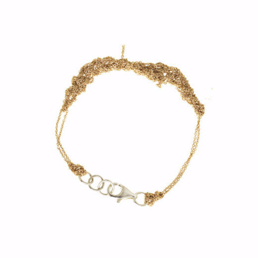 2-Tone Bare Chain Bracelet in Gold