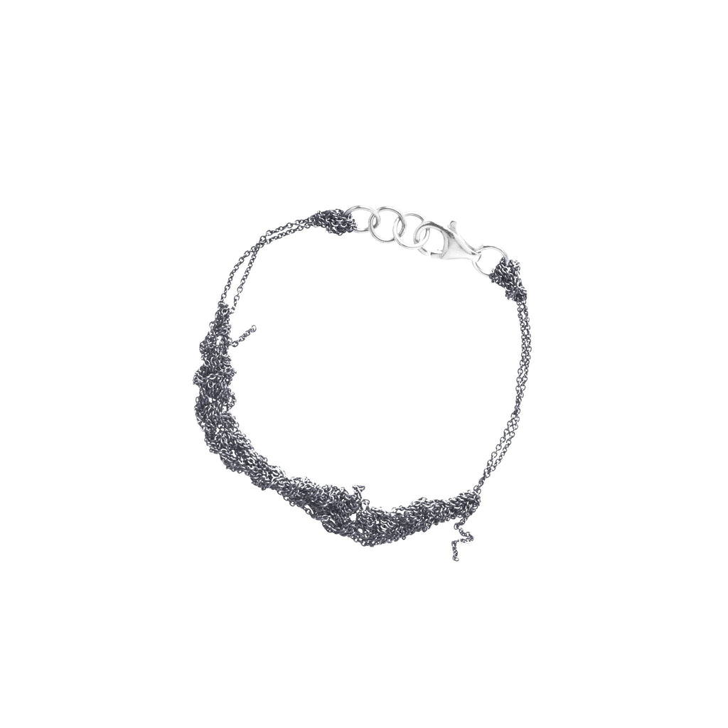 Bare Chain Bracelet in Faded Silver