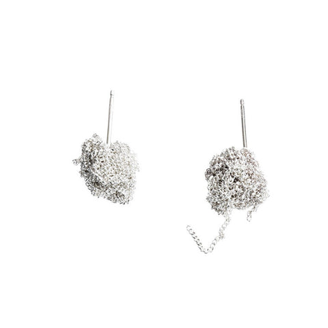 - Bead Earrings - Silver -