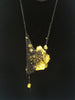 Crystal Drop Necklace - Citron + Charcoal