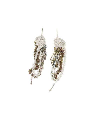 Two-Tone Drip Earrings