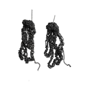 Drip Earrings in Charcoal