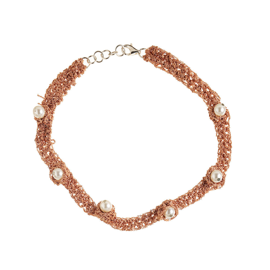 Pearl Nuggy Choker in Rose Gold