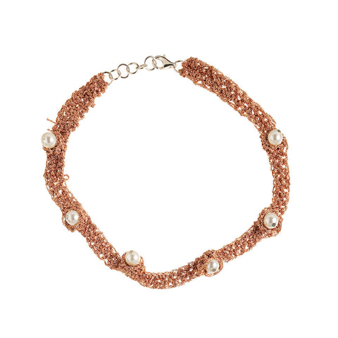 - Pearl Nuggy Choker - Rose gold