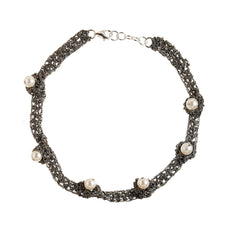 - Pearl Nuggy Choker - Midnight -