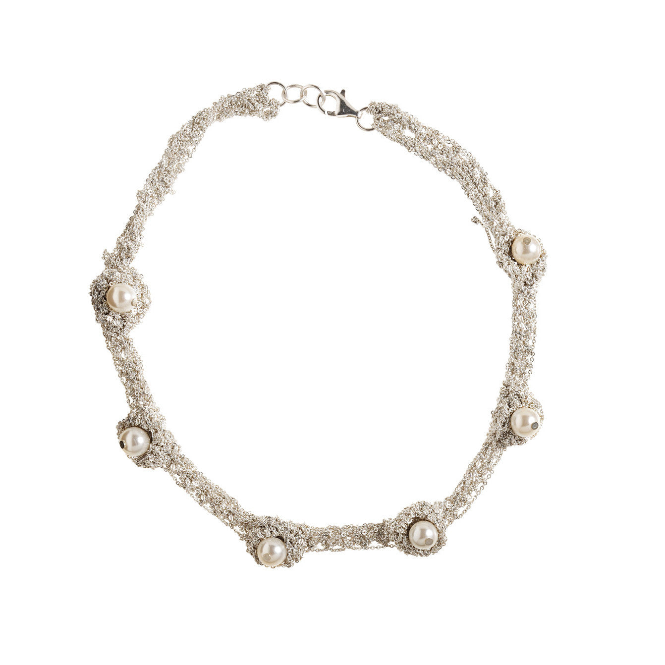 Pearl Nuggy Choker in Silver