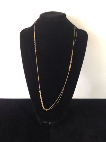 | Spaced Bare Chain - Burnt gold + Gold |