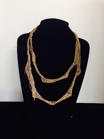 | Jagged Necklace - Burnt gold |