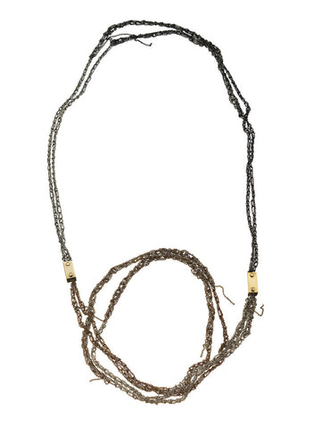Double strand simple brick necklace