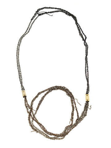 - Double Strand Simple Brick Necklace  AdP -